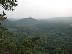 Typical terrain of The Driftless Area as viewed from Wildcat Mountain State Park in Vernon County, Wisconsin