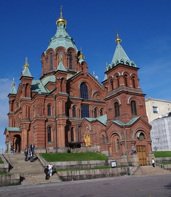 19th-century Cathedral of Dormition of Theotokos (Uspenski Cathedral) in Helsinki