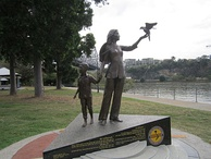 Vietnamese Boat People Memorial, in Brisbane, QLD, dedicated 2 December 2012, executed by Phillip Piperides