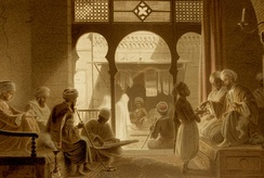 A coffeehouse in Cairo, 18th century