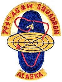 Emblem of the 744th Aircraft Control and Warning Squadron.