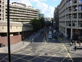 Aldersgate Street, south side from the Barbican highwalk