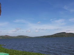 The lake as it is visible from the shores of the Speke Resort in Kampala, Uganda