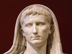 Head of Augustus as Pontifex Maximus, Roman artwork of the late Augustan period, last decade of the 1st century BC
