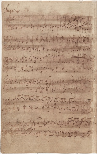 Bach's autograph of the 4th Fugue of Book I