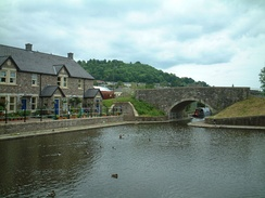 The Monmouthshire and Brecon Canal basin at Brecon, the northern starting point of the Taff Trail