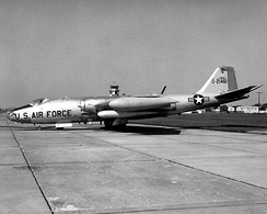 EB-57A parked at Scott AFB, 1969.