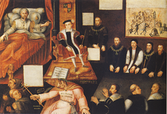 Anti-Papal painting showing the enmity between Edward VI of England and the Pope.