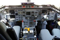 Internal view of Embraer 120 airplane produced in the city of São José dos Campos.