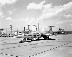 An F-104A in the early 1960s.