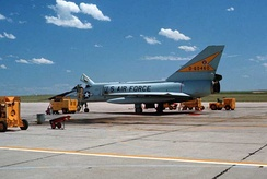 Convair F-106A Delta Dart of the 5th Fighter Interceptor Squadron at Minot AFB[note 1]