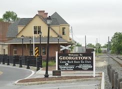 Georgetown's historic railroad station