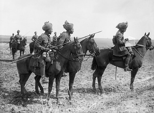 Indian Cavalry on the Western front 1914.