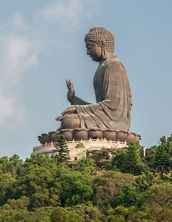Buddha's Birthday is celebrated in April (here is pictured the Tian Tan Buddha in Hong Kong)