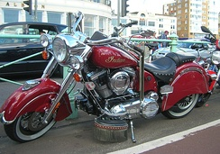 Stellican Indian in characteristic Indian red color in Brighton (UK)