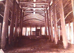 Photo by Thomas Andrew of the interior of church building in Alofi, 1896.