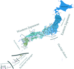 Map of Japanese dialects and Japonic languages