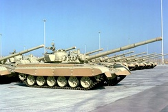 Kuwaiti Armed Forces M-84 main battle tanks