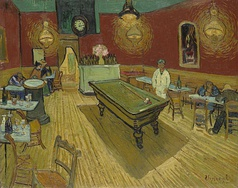 The Night Café, Vincent van Gogh, 1888, Yale Art Gallery