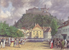 Celebration during the Congress of Laibach, 1821