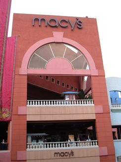 A Macy's at Westfield Horton Plaza in San Diego. This location is expected to close in March 2020.