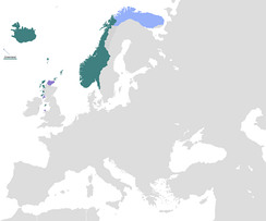 Norwegian Kingdom at its greatest extent, 13th century
