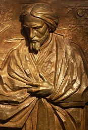 Bas relief of Norwid, Wawel Cathedral