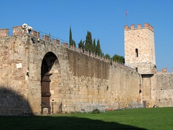 New city walls, erected in 1156 by Consul Cocco Griffi