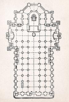 План собора, гравюра ок. 1900г.