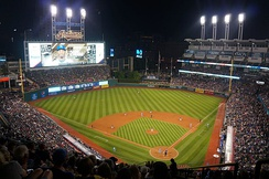Progressive Field, home to the Cleveland Indians baseball team.