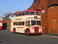 Preserved Ribble Motor Services Leyland Titan as used on route X43 in the 1950s and 1960s