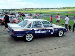 Holden VL Commodore SS Group A of Allan Moffat & John Harvey, winner of the 1987 Monza 500, on display at the Historic Sandown 2009