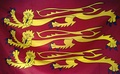 A modern, commercially available Royal Banner of England, printed on polyester fabric