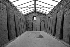 The Kilmartin Stones in Scotland - a collection of ancient stone carved graveslabs