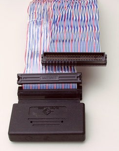 Twisted ribbon cable used for SCSI connections
