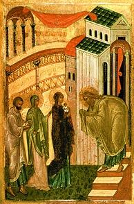 Сретение Господне(новгородская икона конца XV века)