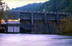 The Watauga River below the TVA Wilbur Dam