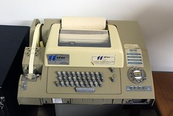A Teletype Model 32 used for Telex service