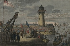 George IV at Holyhead en route to Ireland on 7 August 1821, the day of his wife's death