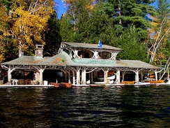 Boathouse at Camp Topridge