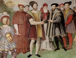 Francis I and Charles V, Holy Roman Emperor made peace at the Truce of Nice in 1538. Francis actually refused to meet Charles in person, and the treaty was signed in separate rooms.