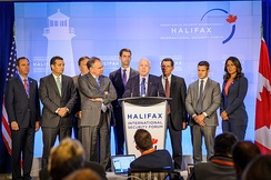 U.S. congressional delegation at Halifax International Security Forum in 2014