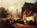 Market Day at Zaltbommel by Elias Pieter Van Bommel, 1852