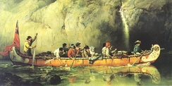 Voyageurs Passing a Waterfall