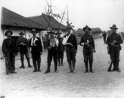 Wounded American soldiers at Santa Mesa, Manila in 1899