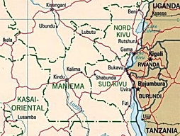 Map of eastern Democratic Republic of Congo