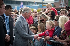Charles's ninth visit to New Zealand in 2015