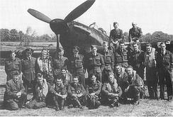 Hurricane night fighter pilots of 486 squadron at Wittering in 1942