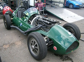 An Alta F2 with bonnet removed.