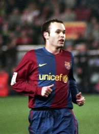 Iniesta with Barcelona in 2006.